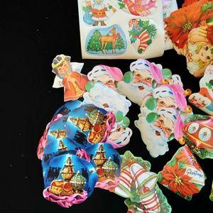 Lot#2 Vintage Christmas gummed stickers